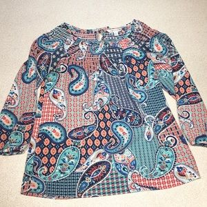 🔥 Paisley printed blouse-like new- size Small